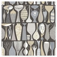 Wall Vision Pottery Folk Wallpaper in Black