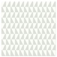 Brewster Home Fashions Trapez Geometric Wallpaper in Light Green