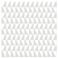 Brewster Home Fashions Trapez Geometric Wallpaper in Grey