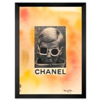 Fairchild Paris Woman with Glasses 12-Inch x 10-Inch Framed Wall Art