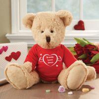 I Love You Personalized Heart Teddy Bear
