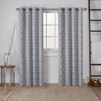 Cartago 108-Inch Grommet Top Room Darkening Window Curtain Panel Pair in Light Grey