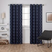 Cartago 84-Inch Grommet Top Room Darkening Window Curtain Panel Pair in Blue