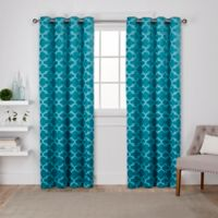 Cartago 84-Inch Grommet Top Room Darkening Window Curtain Panel Pair in Teal