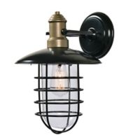 Kenroy Home Outlook 1-Light Large Wall Lantern in Bronze