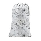 Salt Marble Laundry Bag in White/Black