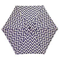 7.5-Foot Round Canopy Umbrella in Navy/White