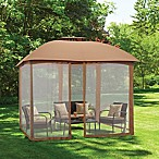 10-Foot x 10-Foot Gazebo Mosquito Net in Tan