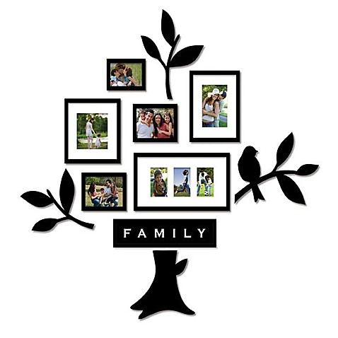Wallverbs™ Family Tree 11-Piece Frames and Plaques Set - Bed Bath ...