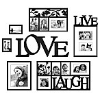 Wallverbs™ Live, Love, Laugh 7-Piece Frames and Plaque Set