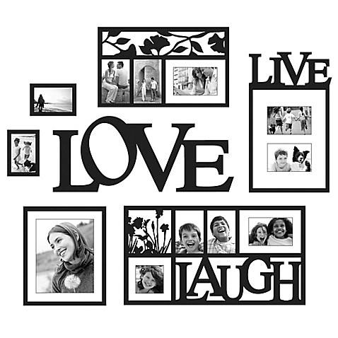 Wallverbs™ Live, Love, Laugh 7-Piece Frames and Plaque Set ...
