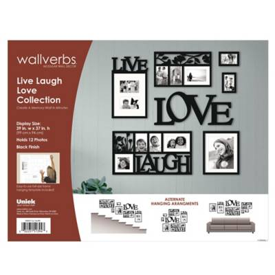 Wallverbs™ Live, Love, Laugh 7-Piece Frames and Plaque Set - Bed ...
