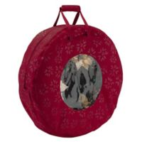 Classic Accessories® Seasons Large Wreath Storage Bag in Cranberry