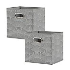 Studio 3B™ Cube Grid Bins in Grey (Set of 2)