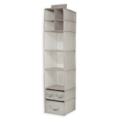 Interdesign axis hanging closet organizer in taupe natural