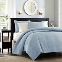 Madison Park Quebec Reversible Twin/Twin XL Coverlet Set in Blue