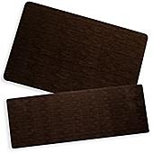 Elegant Bungalow Flooring Microfibre Neoprene 23 Inch X 36 Inch Rug In Miller Brown
