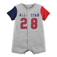 carter's® Size 3M Snap-Up All-Star Romper in Grey