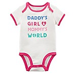 "carter's® Size 3M ""Daddy's Girl & Mommy's World"" Bodysuit"