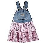 OshKosh B'gosh® Denim and Floral Poplin Skortall in Blue