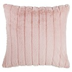 Make-Your-Own-Pillow Gabrielle Faux Fur Square Throw Pillow Cover in Blush