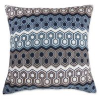 Make-Your-Own-Pillow Wells Square Throw Pillow Cover in Indigo