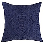 Make-Your-Own-Pillow Jaya Square Throw Pillow Cover in Navy