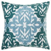 Make-Your-Own-Pillow Del Ray Square Throw Pillow Cover in Aqua