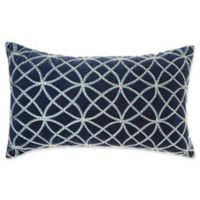Make-Your-Own-Pillow Kenzie Oblong Throw Pillow Cover in Navy