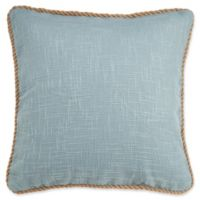 Vena Square Throw Pillow Cover in Spa