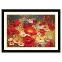 Amanti Art Meadow Poppies I 43-Inch x 31-Inch Framed Wall Art