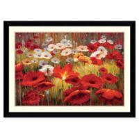 Amanti Art Meadow Poppies II 43-Inch x 31-Inch Framed Wall Art