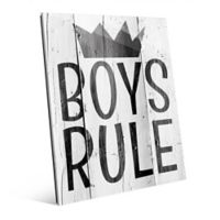 "Astra Art ""Boys Rule"" 11-Inch x 14-Inch Acrylic Wall Art"
