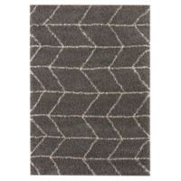 Balta Home Clinton 7'10 x 10' Area Rug in Dark Grey/Cream