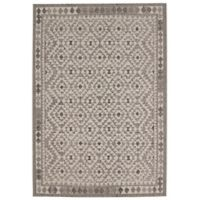 Balta Home Palmyra 7'10 x 10' Indoor/Outdoor Area Rug in White/Black