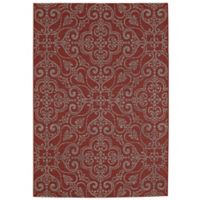 Balta Home Kinnelon 5'3 x 7'4 Indoor/Outdoor Area Rug in Red/Cream
