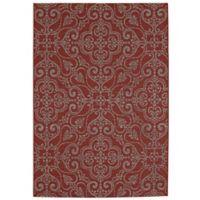 Balta Home Kinnelon 7'10 x 10' Indoor/Outdoor Area Rug in Red/Cream