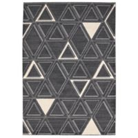 Balta Home Hope 5'3 x 7'6 Area Rug in Black/White