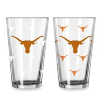 University of Texas Color Changing 16-Ounce Pint Glasses (Set of 2)