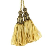 Spa Tassel Tie Back in Light Gold/Dark Gold