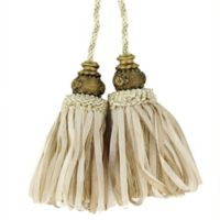 Spa Elect Tassel Tie Back in Cream/Beige