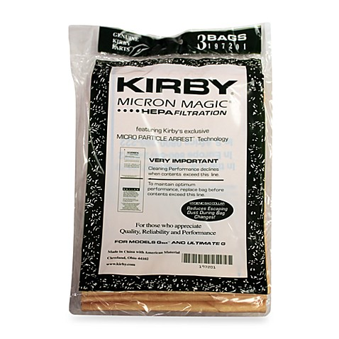 Kirby® Micron Magic® 3-Pack Disposable Dust Bags for G6 and Ultimate G Series Vacuums