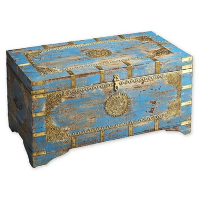 Butler Neela Painted Brass Inlay Storage Trunk