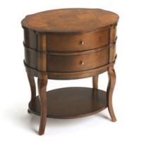 Butler Jarvis Umber Oval Side Table in Medium Brown