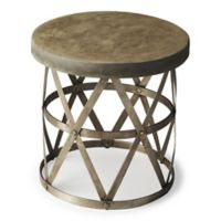 Butler Dobson Industrial Chic Side Table in Grey