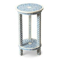 Butler Amanda Bone Inlay Accent Table in Blue