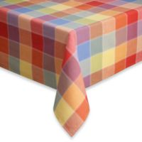 Summer Check 70-Inch Round Tablecloth
