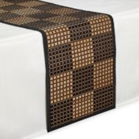 Bamboo Black Checkered 54-Inch Runner