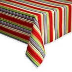 Stripe 60-Inch x 84-Inch Oblong Indoor/Outdoor Tablecloth