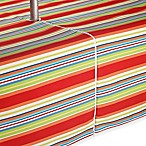 Stripe 60-Inch x 84-Inch Umbrella Indoor/Outdoor Tablecloth with Umbrella Hole